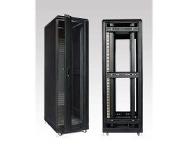 EKORACK Cabinet 27U, 2 doors, 2 fans, Depth 1000mm