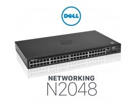 Switch Dell Networking N2048, L2, 48x 1GbE + 2x 10GbE SFP+ fixed ports, AC