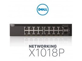 Switch Dell Networking X1018P Smart Web Managed Switch, 16x1GbE PoE/ 2x1GbE SFP ports