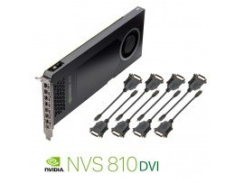 NVIDIA PNY NVS 810 4GB DDR3 PCIe 3.0 - 8x mini DP to DVI, GPU-NVS810