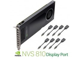 NVIDIA PNY NVS 810 4GB DDR3 PCIe 3.0 - 8x mini DP to DP, GPU-NVS810DP