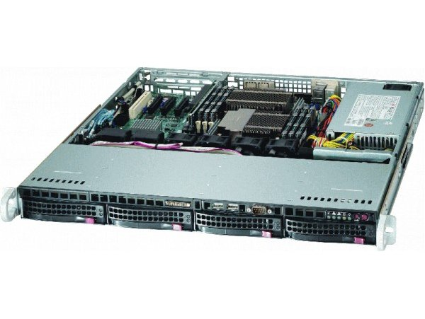 COMBO Máy chủ Supermicro 1U CSE-813MTQ-600CB E5-2620 v3, 4xHP 600GB SAS 10K 2.5in